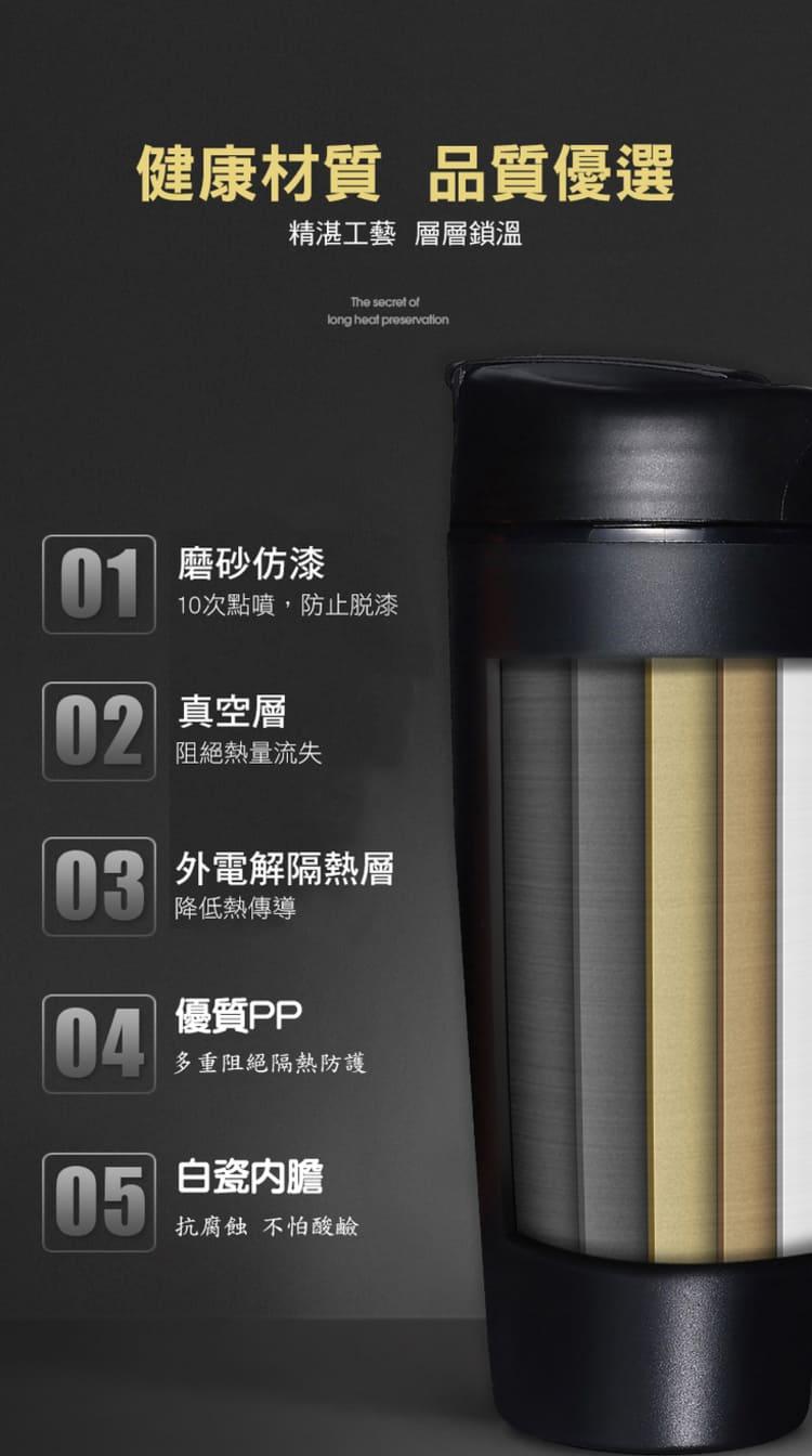 [現貨]輕量級高密度骨瓷保溫杯 陶瓷內膽保溫杯 隨行杯 升級大容量 手拿杯 保溫杯 大容量可手提陶瓷保溫杯