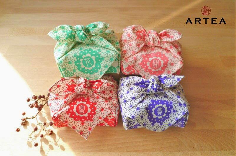 ARTEA【花開富貴】台灣茶包裹巾組合(手採手製茶X4包裹)ARTEA 千合趣 - 限時優惠好康折扣
