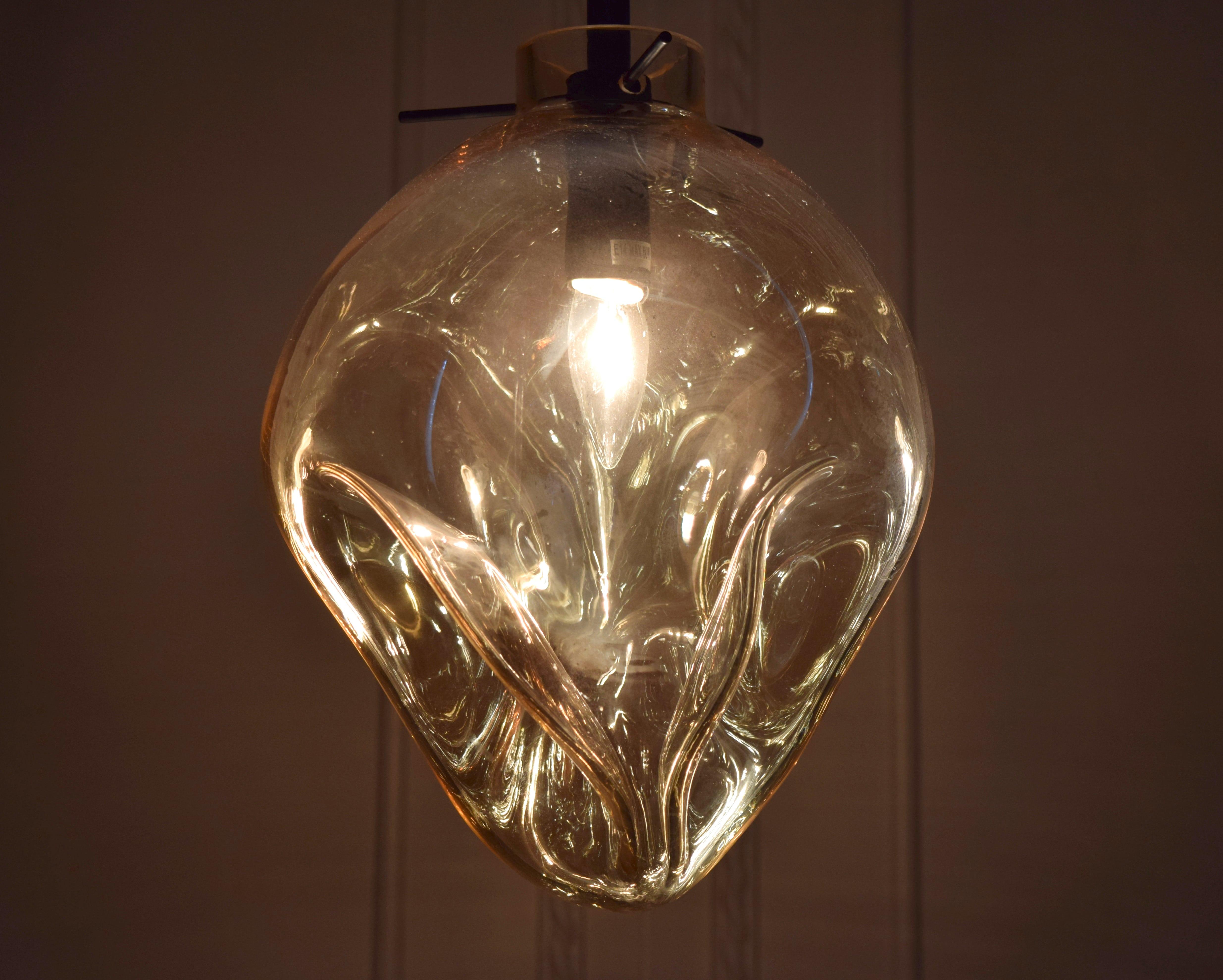 手工吹製琥珀色玻璃吊燈-BNL00114 4