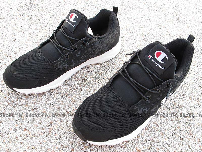 《限時特價799元》Shoestw【731210112】Champion C Ninja 忍者鞋 休閒鞋 襪套 免綁帶 黑色 男款 1