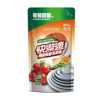 【快潔適】蔬果碗盤洗潔精-補充包-清新甜橙800g 包*12 箱購