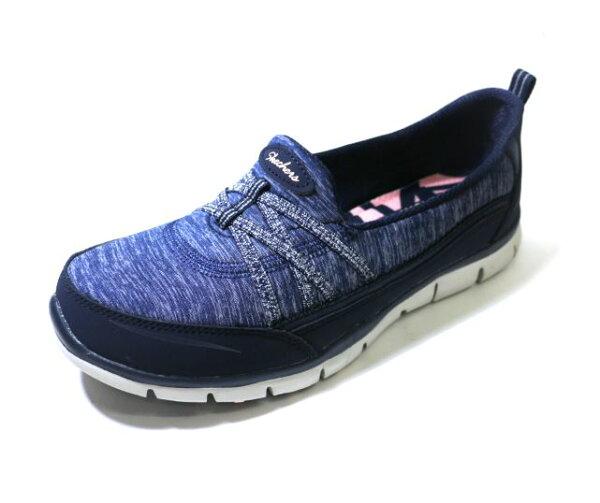 25CM~SKECHERS(女)健走系列GRATISTRUEHEART緞帶淑女鞋-22762NVY藍[陽光樂活]