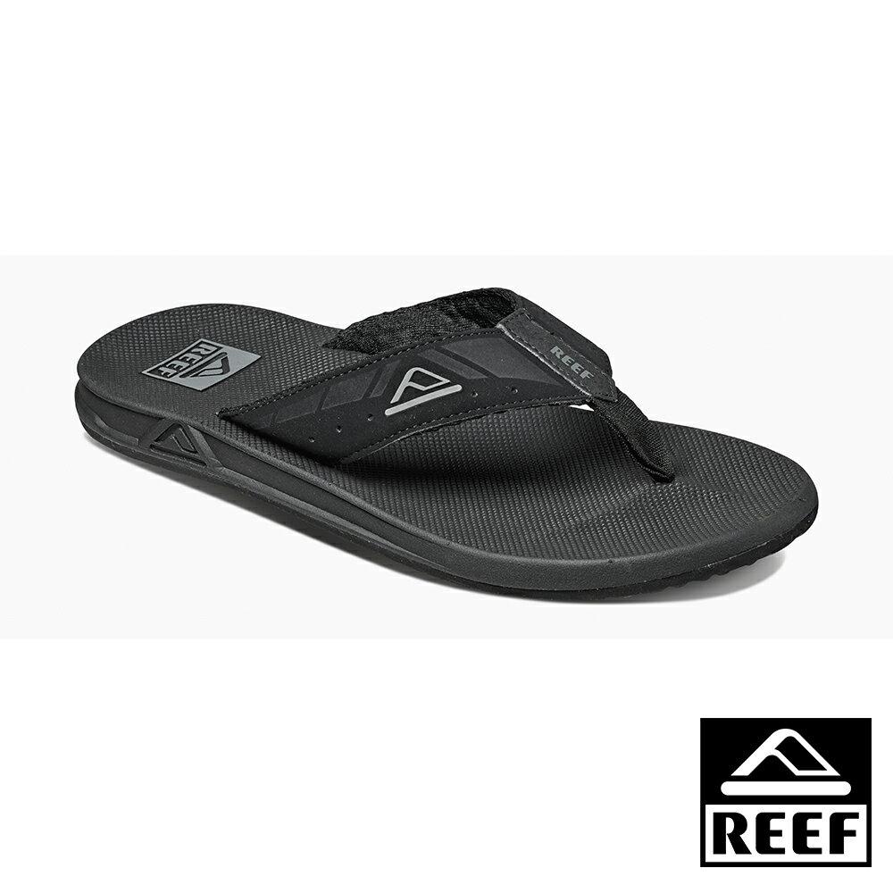 【新品上市 ↘】REEF 氣墊開瓶器升級版 一體成形織帶 舒適好穿防滑耐磨 經典男款夾腳人字拖鞋 . 黑