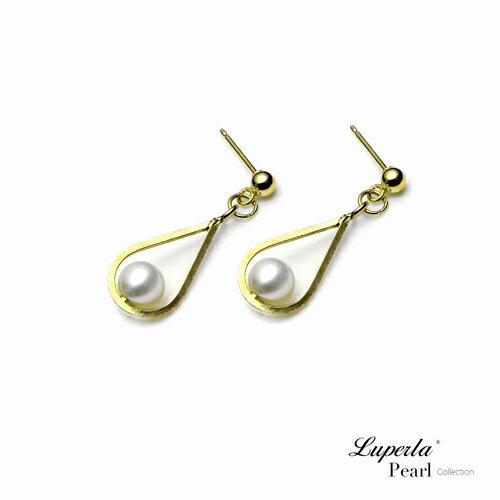 大東山珠寶 珍藏 14K金天然淡水珍珠耳環 歐美古典編織珠寶 1