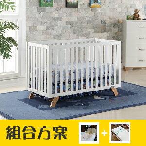 【升等床組贈尿布袋+小方巾】LEVANA【三合一系列】 SOHO 成長嬰兒床(組合特惠:床+5件組+雙面床墊)-2色