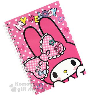 〔小禮堂〕美樂蒂 線圈筆記本《粉.點點.蕾絲蝴蝶結.音符》內裡4種筆記頁