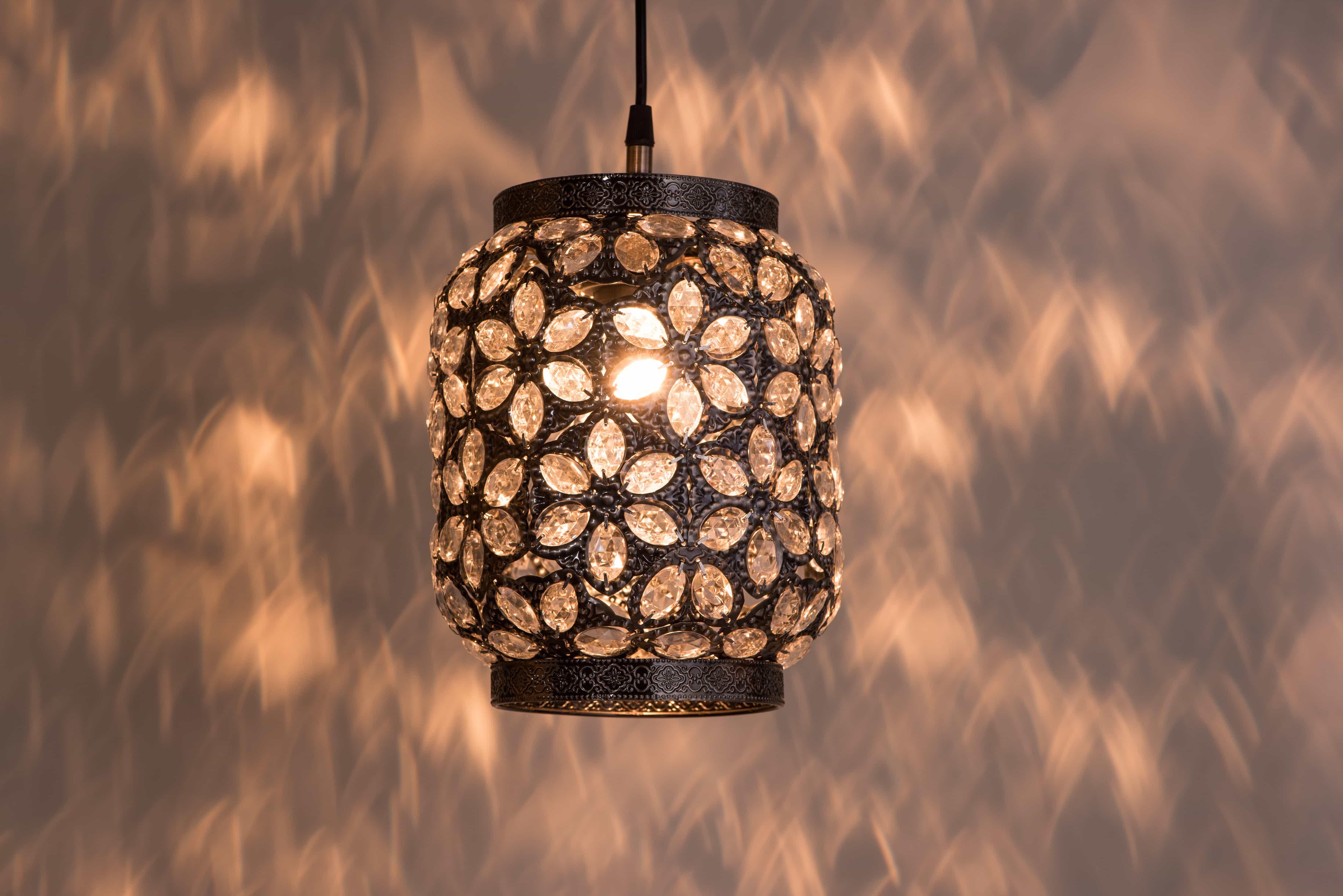 青古銅花瓣紋吊燈-BNL00071 2