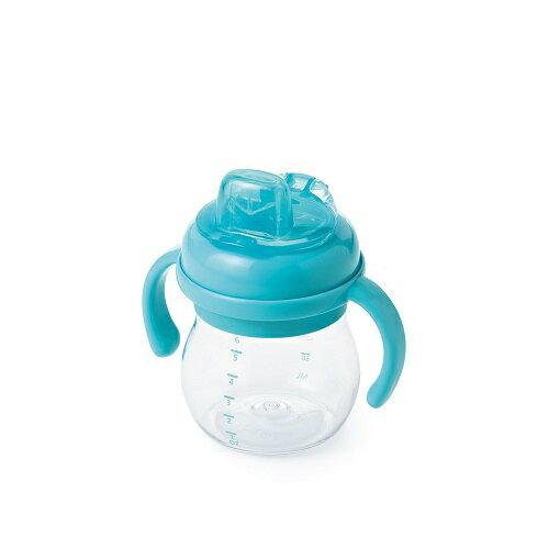 【美國oxo】OXO Grow TM 可拆卸 手把 矽膠鴨嘴訓練杯 - 藍色 6oz / (150ml)【紫貝殼】