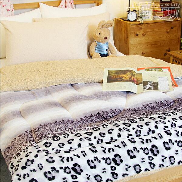 法蘭羊羔絨暖暖被毯-紫醉迷情【華麗豹紋、極暖、可當棉被使用 】#內充棉 #寢國寢城 2