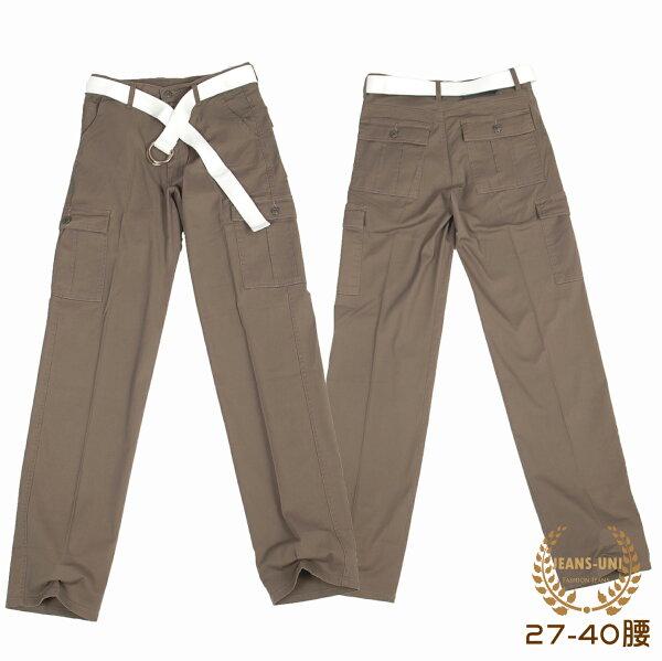 工作褲  超薄款側邊貼袋工作褲→有彈性.27~40腰【150529-106】牛仔大學(M~5L)