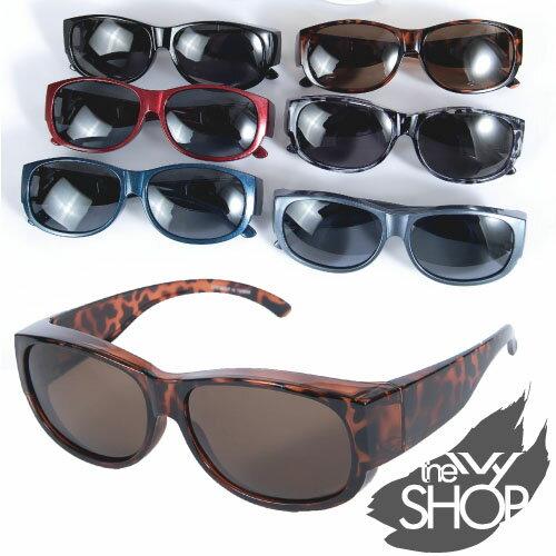 眼鏡一族專用圓框套鏡偏光太陽眼鏡 (共7色)→台灣製造.偏光太陽眼鏡【140801-602】Ivy小舖