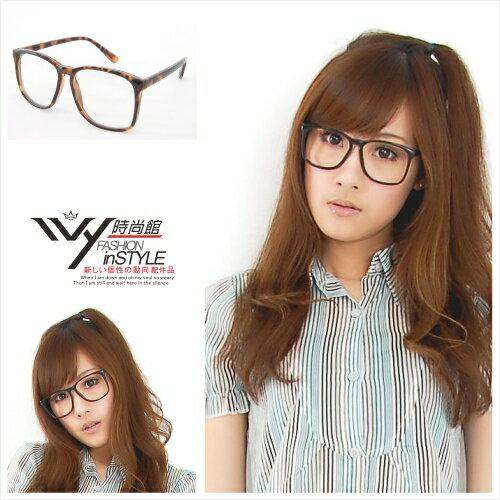Ivy小舖~110216~605~復古風韓款膠框平光眼鏡 ^(多色^)→