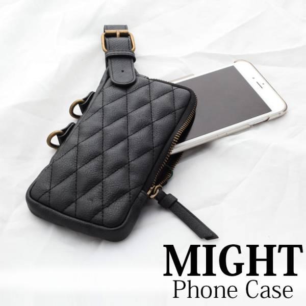 might 菱格 手機袋 吊掛 iPhone 7 Plus  手機袋 MSC~12098