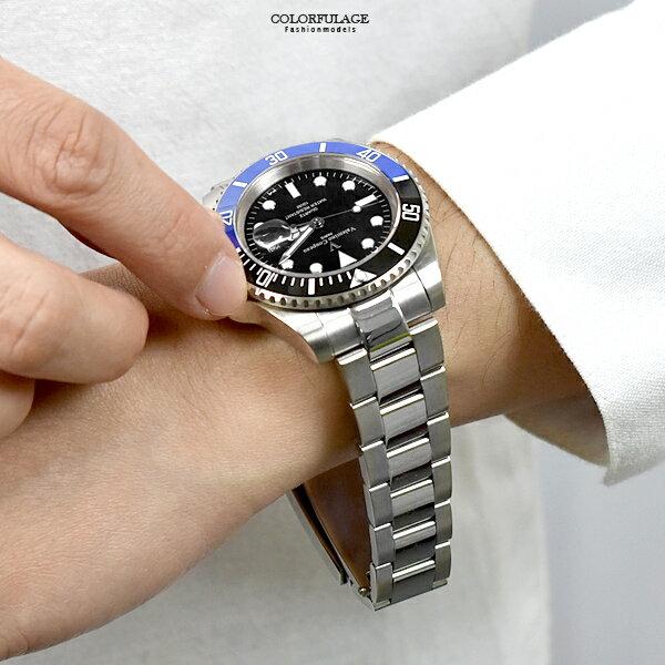 水鬼錶 范倫鐵諾.古柏 簡約黑藍錶盤鋼錶【NEV102】 - 限時優惠好康折扣
