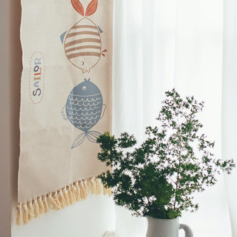 半宅棉質編織流蘇地毯家用可坐臥室床邊客廳廚房衛生間榻榻米地墊