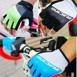 美麗大街【BK006】混色單車短指手套 優質單車半指止滑手套