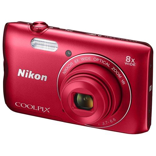 Nikon Coolpix A300 20MP Compact Digital Camera (Red) 0