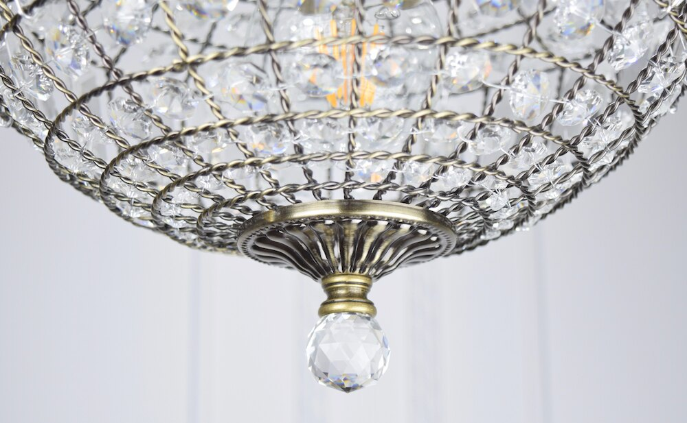 古銅提籠水晶吊燈-BNL00106 0