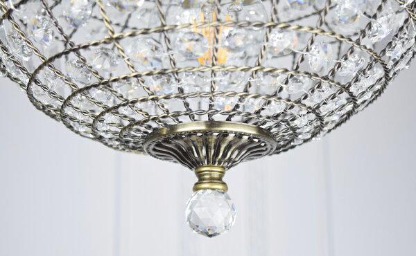 古銅提籠水晶吊燈-BNL00106