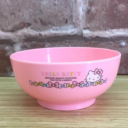 【真愛日本】 17071300018 可微波湯碗-KT蝴蝶結粉 三麗鷗 kitty 凱蒂貓 餐具 碗 廚房用品