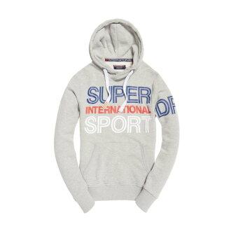 美國百分百【全新真品】Superdry 極度乾燥 帽T 連帽 長袖 刷毛 經典款 復古 S-XL號 灰色 H738
