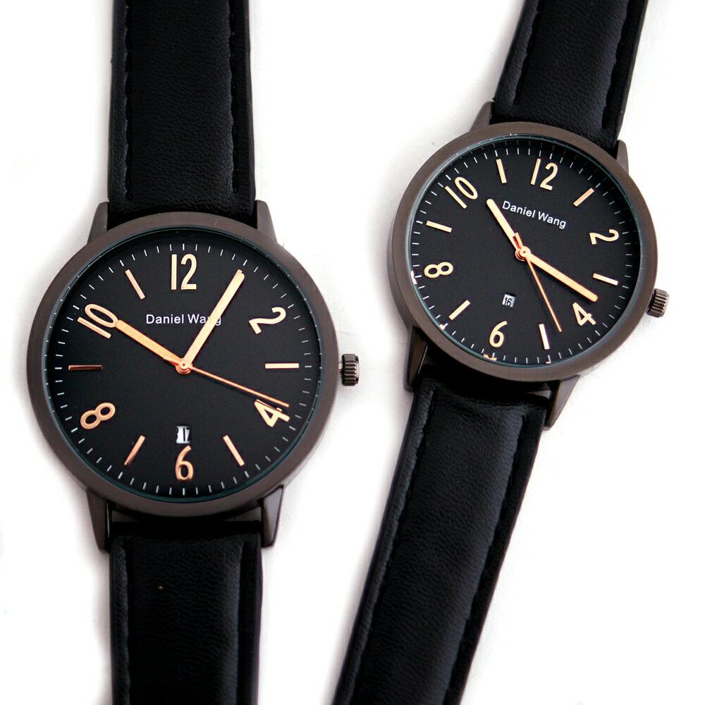 Daniel Wang DW-3158 文青知性簡約中性皮革錶 1