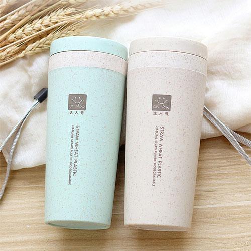 小麥秸稈雙層隔熱隨行杯 環保杯 麥香杯 無毒 保溫杯 咖啡杯 隨手杯