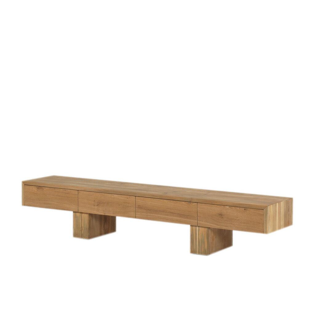 老柚木全實木電視櫃 實木電視櫃 北歐風家具 電視櫃 實木家具  A.H.Furniture 19L16 寬度220*40*41