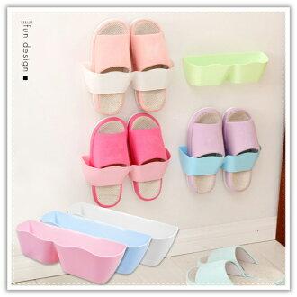 【aife life】黏貼壁式鞋架/掛壁式鞋架/立體鞋架/鞋子收納盒/鞋櫃/節省空間收納/室內拖鞋