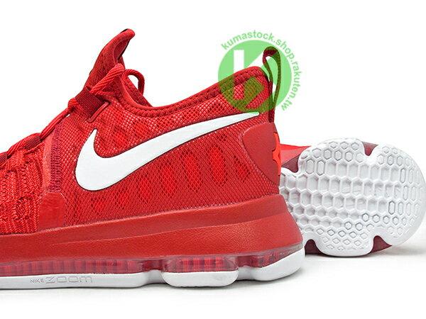 2017 得分王 雷帝 NIKE ZOOM KD 9 IX EP 全紅 白勾 紅白 FLYKNIT 襪套包覆鞋面 AIR KD 5 35 (844382-611) 0117 3