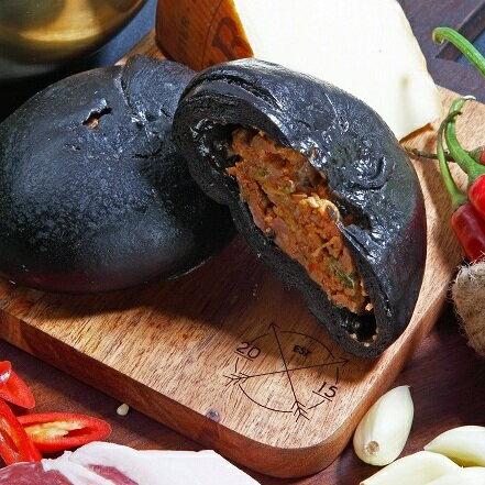 ★時尚包子★黑辣包(一包3入)天然墨魚外皮、韓國進口辣椒魚露、紐西蘭進口起司/達包食品