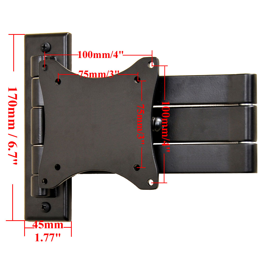 "VideoSecu Articulating TV Wall Mount for 15-27"" Toshiba Dell Sceptre Acer Coby LCD LED 1E9 1"