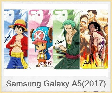 SamsungGalaxyA5(2017)航海王海賊王人物系列正版授權透明彩繪軟式手機殼軟膠透明殼手機殼