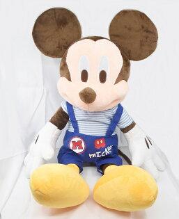 X射線【C184858】米奇Mickey米妮Minnie18吋條紋吊帶標準版,絨毛填充玩偶玩具公仔抱枕靠枕娃娃