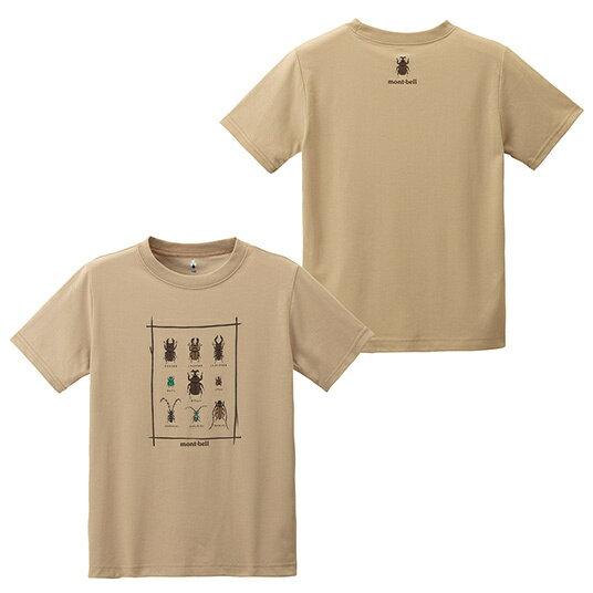 ├登山樂┤日本mont-bellWIC.T-SHIRT甲蟲兒童排汗短袖-卡其#1114189TN