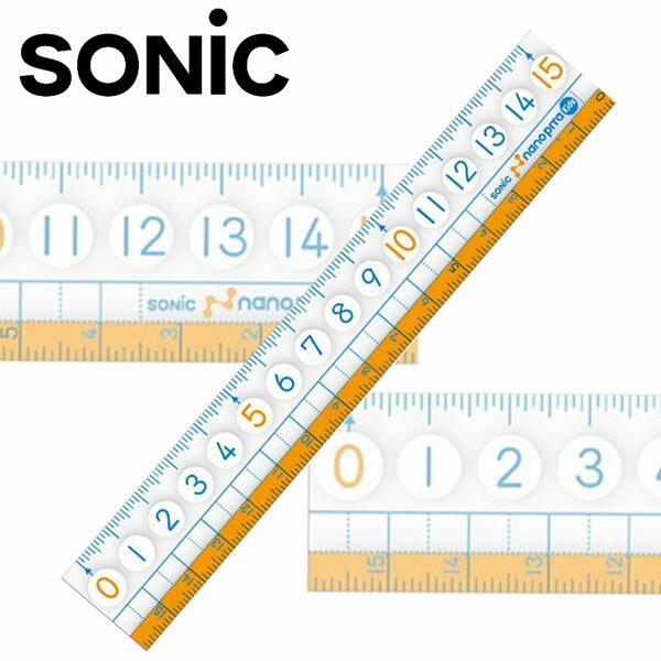 SONIC 超大數字止滑尺 - 15公分直尺 ( SK-7880 )