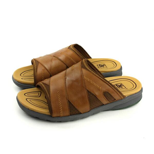YiuSan拖鞋棕色男鞋17181425no290