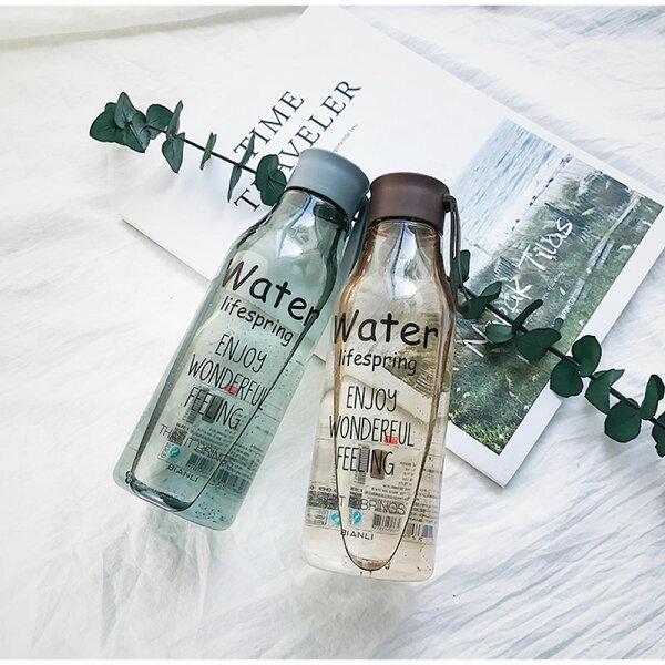 Water水瓶透明水瓶冷水壺手提防漏消暑運動健身汽水瓶【RS784】