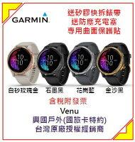 [領券折300] GARMIN Venu 型動力美學 (4色可選) GPS智慧腕錶 運動錶 女錶 男錶-興國戶外體育用品-流行女裝