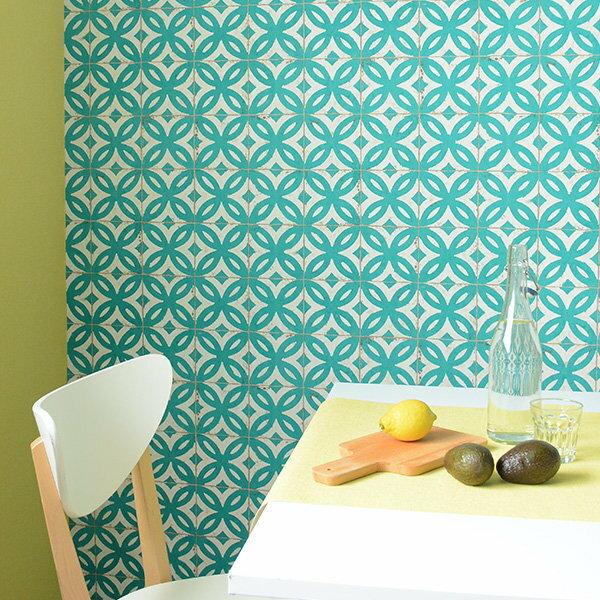 rasch 2018 /Fakes 524727 磁磚壁紙 仿真 綠色 DIY工具套餐 牆紙
