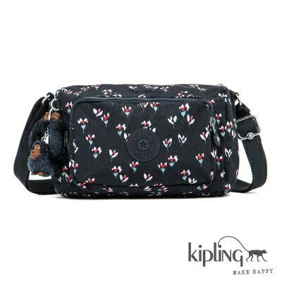 【結帳輸入fashion0511-2折100】Kipling斜背包 愛心花卉印花 K1354960M