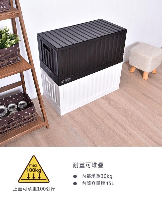 摺疊籃 / 收納箱  / 箱子 / 櫃子  貨櫃收納椅 二色 樹德MIT台灣製  【FB-6432】 5