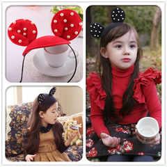 女童 珍珠米奇造型女童髮箍$69 3