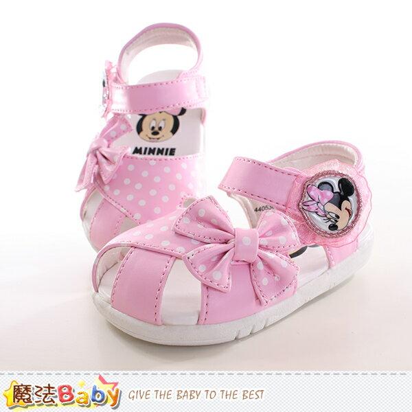 寶寶鞋 迪士尼米妮正版寶寶涼鞋 魔法Baby~sh9847