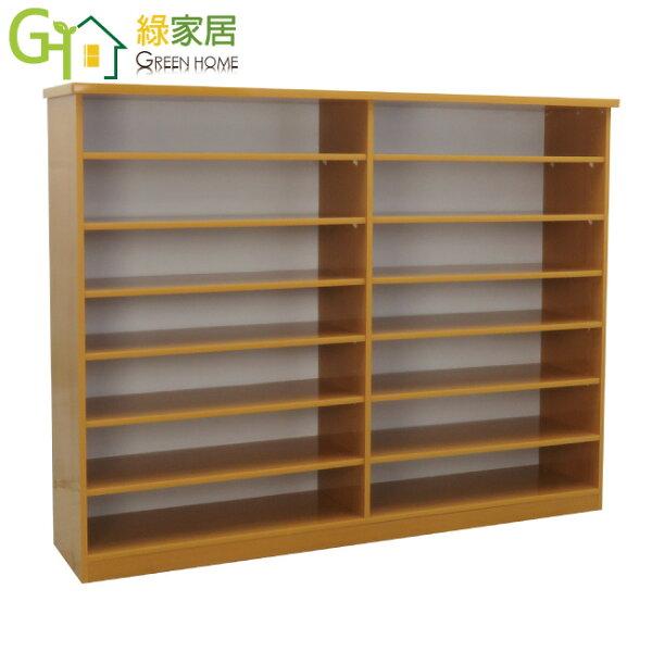 【綠家居】羅斯環保5尺塑鋼開放式鞋櫃玄關櫃(4色可選)