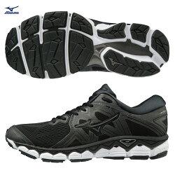 WAVE SKY 2 (W) 一般行女款慢跑鞋 J1GD180209(黑X黑)【美津濃MIZUNO】