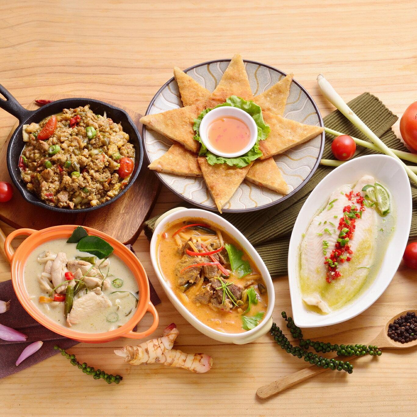 【組合】5菜 - 泰式料理個人豪華組(約2-3人份)【泰亞迷】團購美食 /  /  / 泰式料理包、5分輕鬆上菜 1