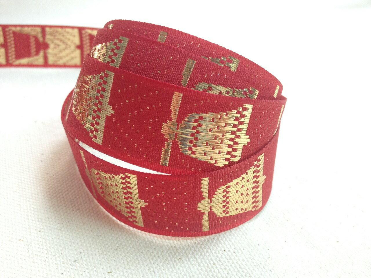 雪花大鈴鐺緹花緞帶 20mm 3碼裝 (3色) 0