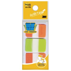 【3M】 686-1 亮橙+亮綠 耐用標籤 /可再貼標籤 25×38mm