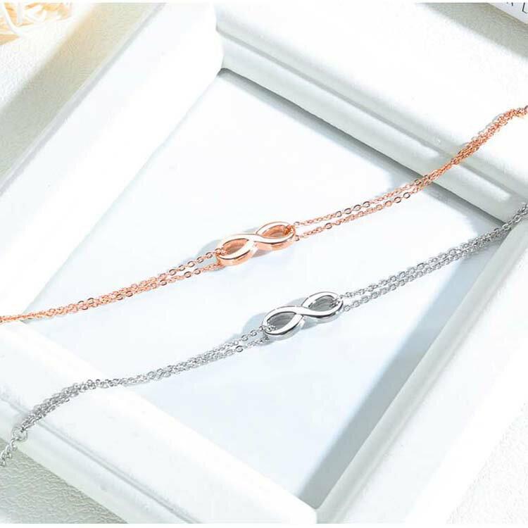 【5折超值價】時尚精美精緻8字造型女款鈦鋼手鍊